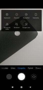 Xiaomi Redmi 7 MIUI aplikace fotoaparatu