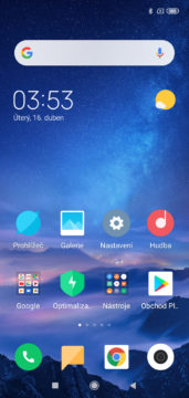 Xiaomi Redmi 7 MIUI domovska obrazovka