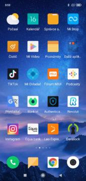 Xiaomi Redmi 7 MIUI menu