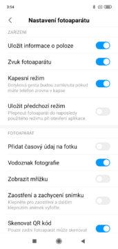 Xiaomi Redmi 7 MIUI nastaveni fotoaparatu