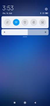 Xiaomi Redmi 7 MIUI notifikacni lista