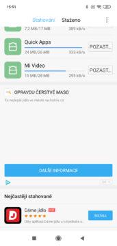 Xiaomi Redmi 7 MIUI reklamy