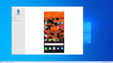 your phone zrcadleni android windows 10