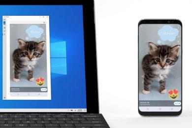 zrcadleni android telefonu windows 10