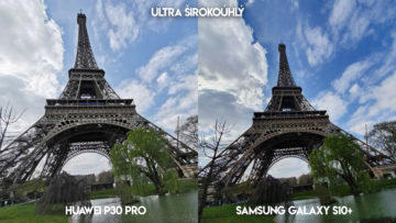 Fototest Huawei P30 Pro vs Samsung Galaxy S10 Plus eiffelova věž
