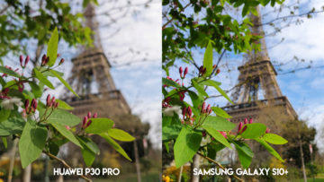 Fototest Huawei P30 Pro vs Samsung Galaxy S10 Plus eiffelovka