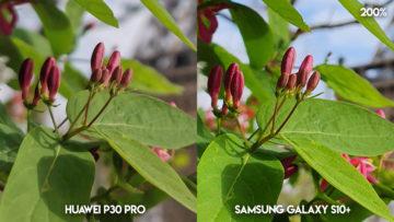 Fototest Huawei P30 Pro vs Samsung Galaxy S10 Plus eiffelovka detail