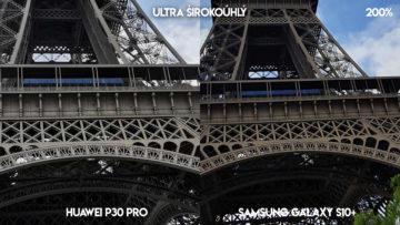 Fototest Huawei P30 Pro vs Samsung Galaxy S10 Plus Fototest Huawei P30 Pro vs Samsung Galaxy S10 Plus eiffelova věž detail