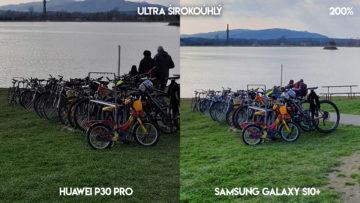 Fototest Huawei P30 Pro vs Samsung Galaxy S10 Plus jezero detail