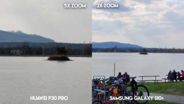 Fototest Huawei P30 Pro vs Samsung Galaxy S10 Plus jezero ostrov