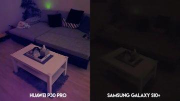 Fototest Huawei P30 Pro vs Samsung Galaxy S10 Plus noční foto interiér