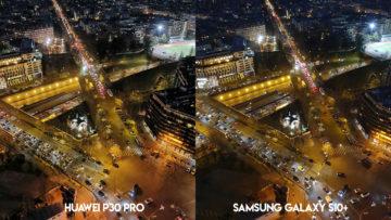 Fototest Huawei P30 Pro vs Samsung Galaxy S10 Plus noční ulice