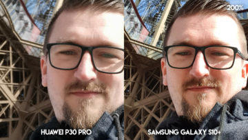 Fototest Huawei P30 Pro vs Samsung Galaxy S10 Plus selfie detail