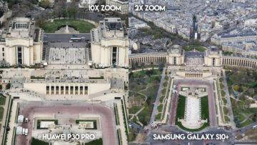 Fototest Huawei P30 Pro vs Samsung Galaxy S10 Plus ulice parize