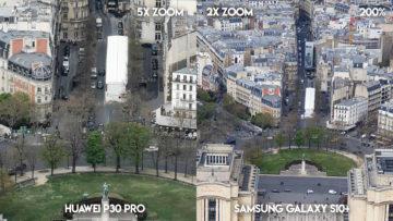 Fototest Huawei P30 Pro vs Samsung Galaxy S10 Plus ulice parize detail