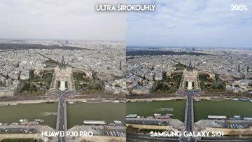 Fototest Huawei P30 Pro vs Samsung Galaxy S10 Plus ultraširokoúhlý fotoaparát