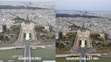 Fototest Huawei P30 Pro vs Samsung Galaxy S10 Plus zoom francie