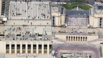 Fototest Huawei P30 Pro vs Samsung Galaxy S10 Plus zoom francie detail