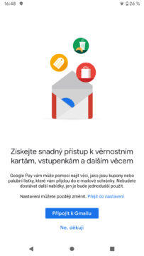 Google Pay integrace Gmail aktivace