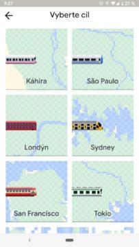 Had v Mapách Google výběr mapy