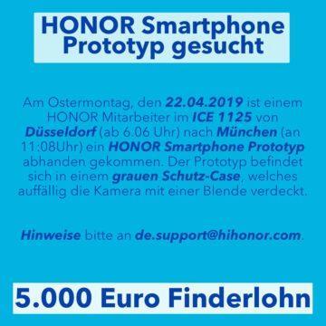 honor ztraceny prototyp