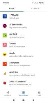 Nainstalované aplikace