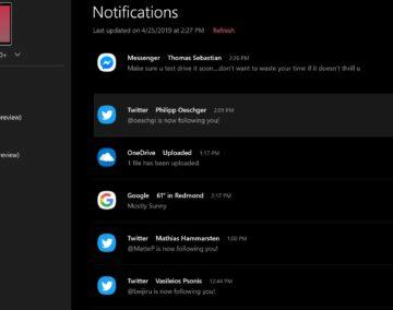 notifikace your phone microsoft windows android