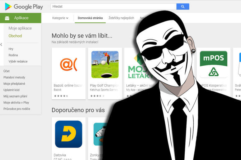 škodlivá aplikace obchod google play
