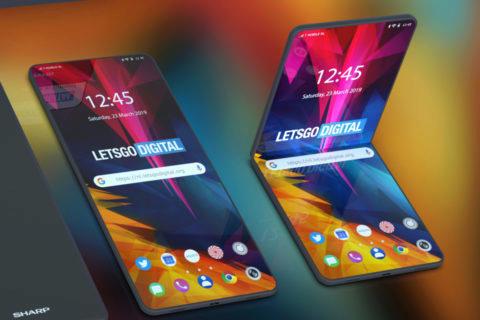 ohebny telefon sharp koncept