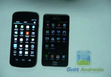Galaxy Nexus a Samsung Galaxy S2