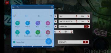 PocoPhone F1 herní režim plovouci okno