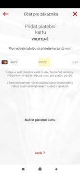 Přidání platební karty