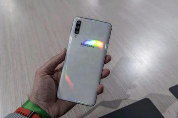Samsung Galaxy A50 white zadni strana