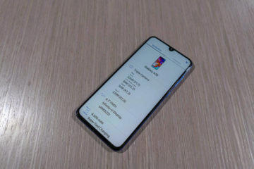 Samsung Galaxy A70 displej