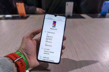 Samsung Galaxy A70 predni strana displej