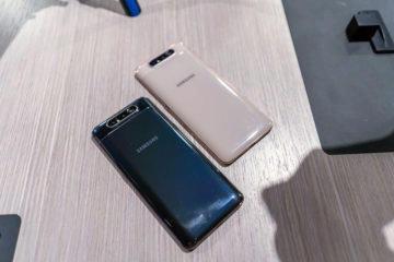 Samsung Galaxy A80 design