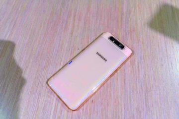 Samsung Galaxy A80 design zadni strany