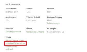 Schránka na Gmailu je rozhodně mínus
