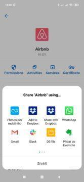 Sdílení aplikace
