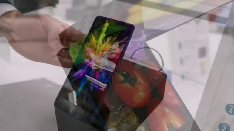 Sharp Foldable AMOLED prototype Apr 2019