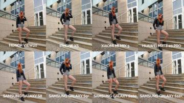 srovnání fotomobilů galaxy s8 s9 s10 mate 20 pro mi mix 3 view 20 iphone xs modelka