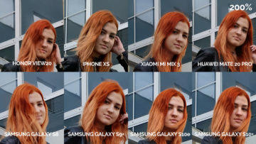 srovnání fotomobilů galaxy s8 s9 s10 mate 20 pro mi mix 3 view 20 iphone xs modelka detail
