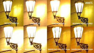 srovnání fotomobilů galaxy s8 s9 s10 mate 20 pro mi mix 3 view 20 iphone xs noc lampa detail