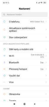Xiaomi Redmi Note 7 miui nastaveni