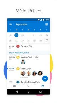 Android - emailový klient - Outlook