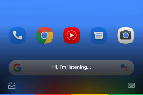 asistent google minimalisticky design