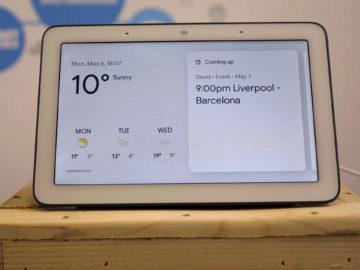 Chytry displej google home hub recenze hlavni obrazovka