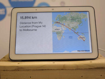 Chytry displej google home hub recenze mapy