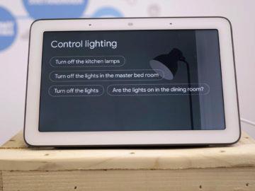 Chytry displej google home hub recenze ovladani svetla