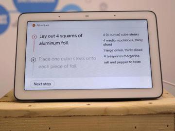 Chytry displej google home hub recenze recept postup